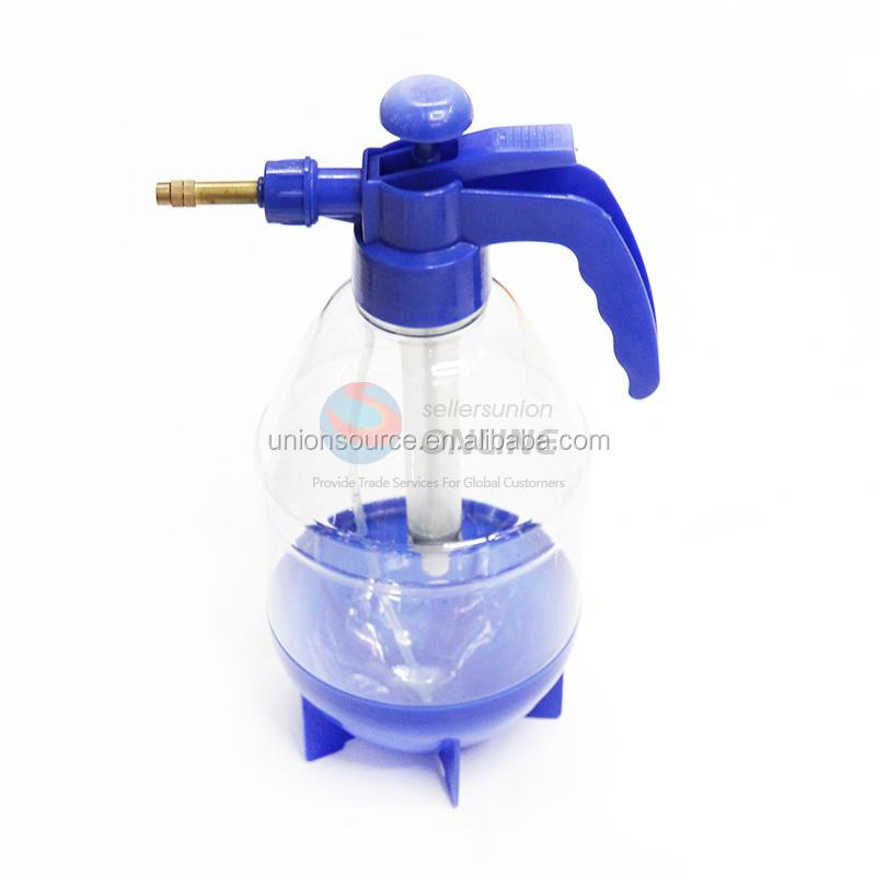 2L Blue air pressure water sprayer mist spray pump bottle