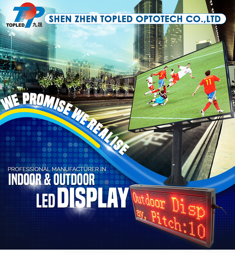 P10 Semi-outdoor Led Running Message Display