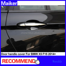 Door handle cover for bmw x5 F15 2014 chrome handle stainless steel accessories from maiker