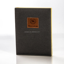 customized high-end five star hotel leather accessories menu folder (BSD8570)