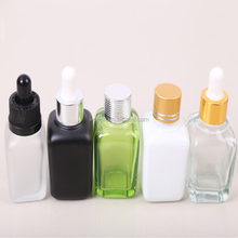 30ml black square essential oil glass bottle with pump dropper /empty bottles for e juice
