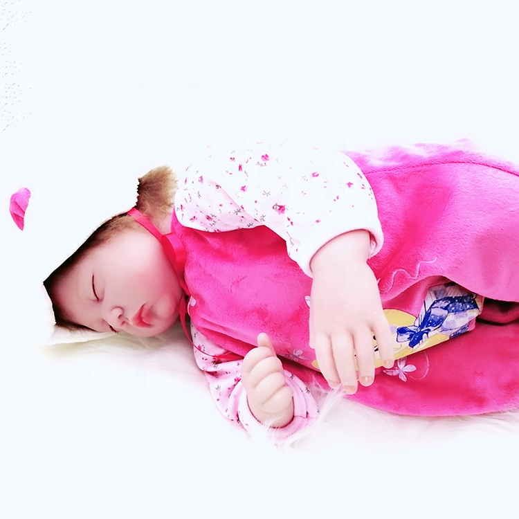 High Quality new born baby size 16 inch cute <strong>doll</strong> with clothes for kid's Christmas birthday gift