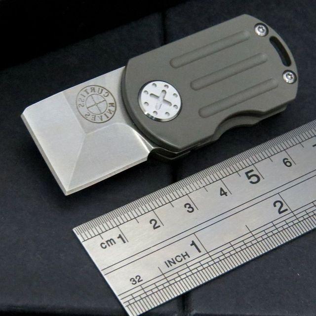 Mini Portable M390 Steel Blade Titanium Survival Knives Folding Key Knife