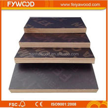 xuzhou feiya <strong>wood</strong> hardwood core brown film plywood