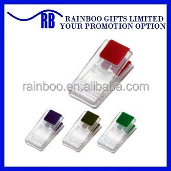 Plastic Transparent paper clip for Promotion and school