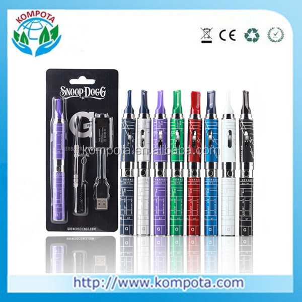 Snoop Dogg Blister Kits Dry Herb Glass Atomizer 650mah Battery Dry g Herb Vaporizer pen E Cigarettes Healthy Herbal Vaporizer