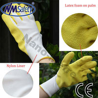 NMSAFETY professional latex foam coated safety gloves workers safety gloves trading