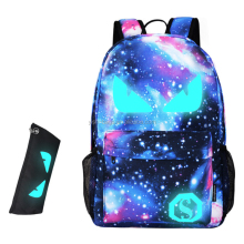 Luminous Star Sky Printed Shoulders Bag with Usb Fashion Casual Daypack Backpacks Trendy Galaxy Pattern Backpack Cute for <strong>School</strong>