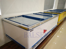 Commercial big capacity slide glass door display chest freezer
