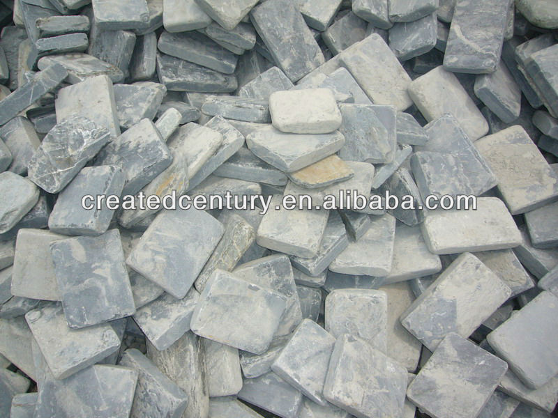 Natural slate tumbled garden path tile