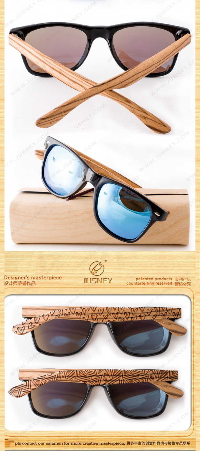 wholesale distributor STOCK wooden sunglasses Fashion resin polarized sunglasses UV 400 bamboo wood sunglasses 2018