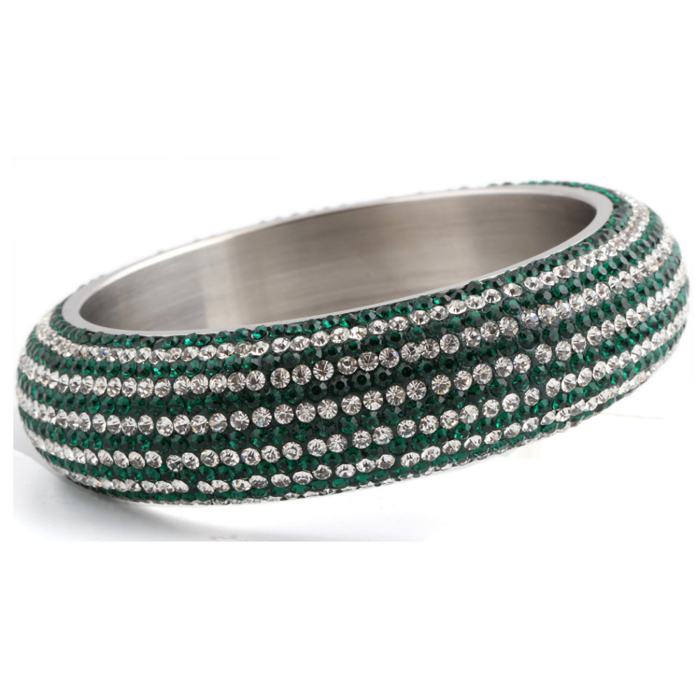 Unique Design Enviromental Steel Jewellery Green Color Custom Bangle Jewellery