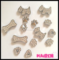 Hot Sale Zinc Alloy 10mm Silver Slide Dog Charms For Dog Collar