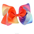 5 Inch Rainbow Hair Bow With Clip BH1436-1