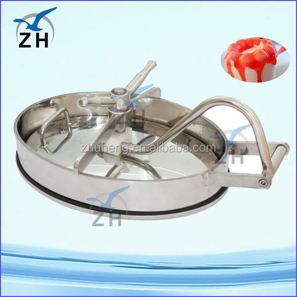 Food grade stainless steel sewer manhole cover and frame