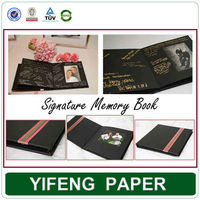 Wholesale custom cardboard paper wedding signature books