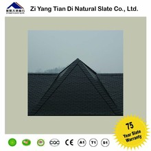 ancient black Chinese style temple natural slate roof tile