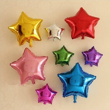 Colors Inflatable Star Shape Foil Balloon For Party Decoration Star Pentagram foil balloons helium