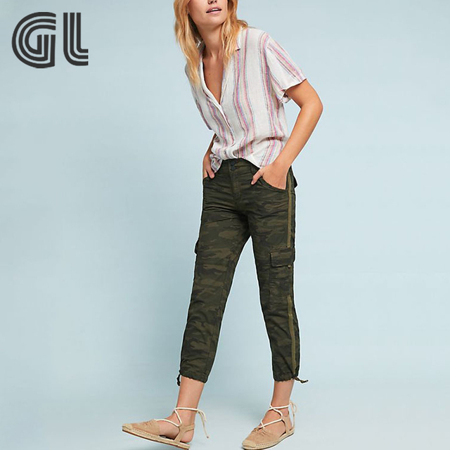 Fashion travel camouflage pants for women