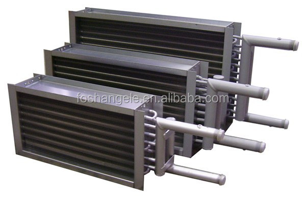 air cooled Fin tube heat exchanger flue gas cooler for condensing boiler