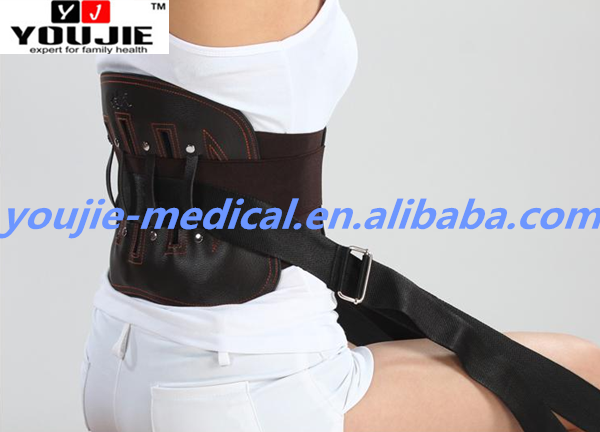 Online Shopping Leather Lumbar Support Brace for Back Tension Relief