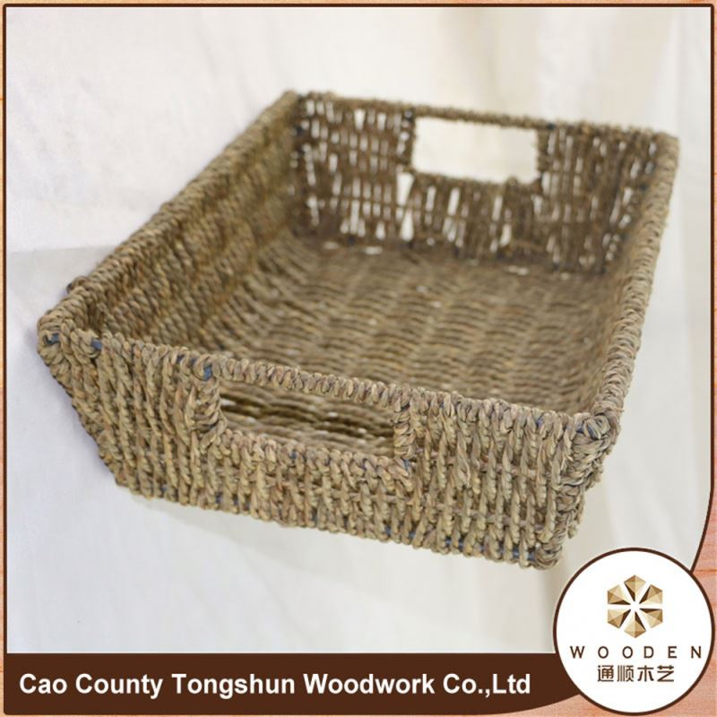 Straw Weaving Basket And Trays