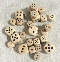 WE Games Wooden Dice with Rounded Corners 16mm kids toy dice
