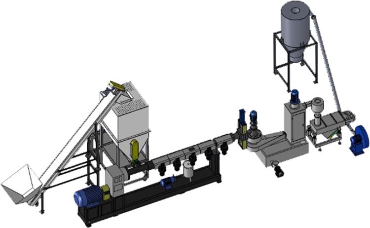 ПЭТ бутылка дробления и гранулирования пластиковых отходов стиральная завод