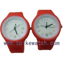 Red color silcione watch big face watch wanted distributorship