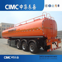 Best selling 3 axles 40cbm carbon steel fuel oil liquid tank Tractor trailer for sale