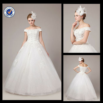 8217 Real Photo Classical Lace Wedding Dresses White made in suzhou china