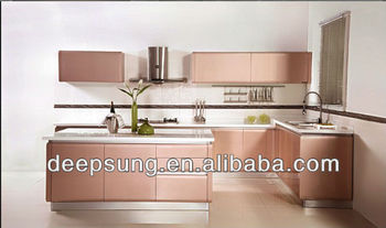Fashionable Design Contemporary lacquer Kitchen Cabinet for Hotel project