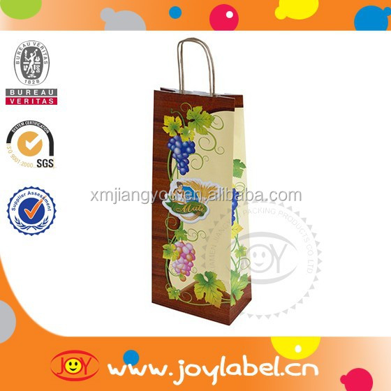luxury wine carrier bag,paper bag for wine,paper wine bag