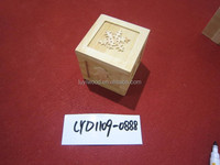 High Quality Best Seller Natural Wood Ornament Decoratve Pieces Small Wooden Gift Box