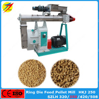 SZLH350 poultry chicken cattle rabbit horse feed pellet mill equipment for sale