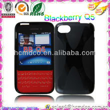 2013 new hot selling Gel TPU mobile phone case for blackberry Q5