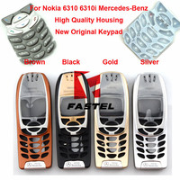 For Nokia 6310i Mercedes-Benz Logo High Quality New Full Complete Phone Housing Cover Case+Keypad