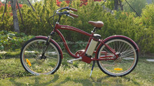 26' beach cruiser city electric bike with lithium battery price low