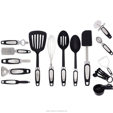 Kitchen utensils cooking set kitchen tools 21Piece Gadget Set Stainless Steel And Nylon Turners, Tongs, Spatulas, Pizza Cutter