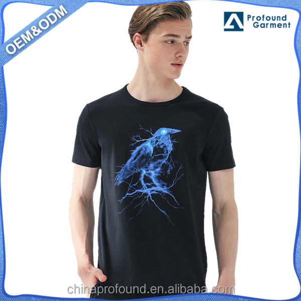 Fashion cheap wholesale printing slim fit cotton t shirts for men China clothing manufacturer
