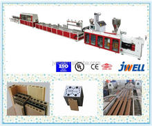 JWELL - PVC window door wall flooring frame machine wood plastic composite WPC profile making machine