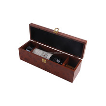 Luxury Carrying Wood Wine Glass Gift Box With Lock