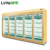 LVNI upscale supermarket large beverage cooler with 5 glass doors