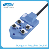 12P, 19P optional 4 ports fix screw PVC multi electrical junction box price