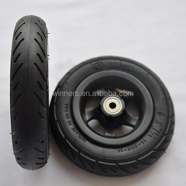 6 inch small pneumatic plastic wheel with forks