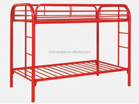 Red cheap metal bunk bed