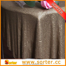 Elegant metal sequin table cloth for modern wedding