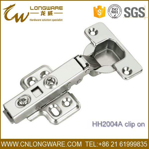 SGS test clip on type 35mm Soft closing cabinet concealed hinge