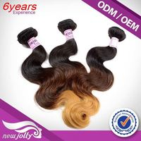 Low Price Real Virgin Wholesale Supply Manufacturer Two Tone Ombre Remy Hair Weaving