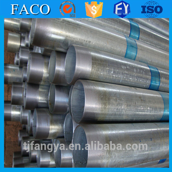 steel pipes galvanized tianjin manufacturer galvanized threaded rod
